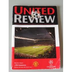 Programmaboekje Manchester U- PSV