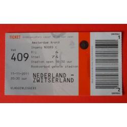 Wedstrijdkaartje Nederland-Zwitserland 2011
