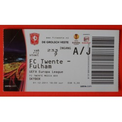 Wedstrijdkaartje EL Twente-Fulham 2011