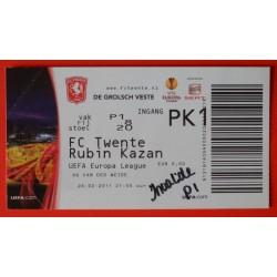 Wedstrijdkaartje Twente-Kazan 2011